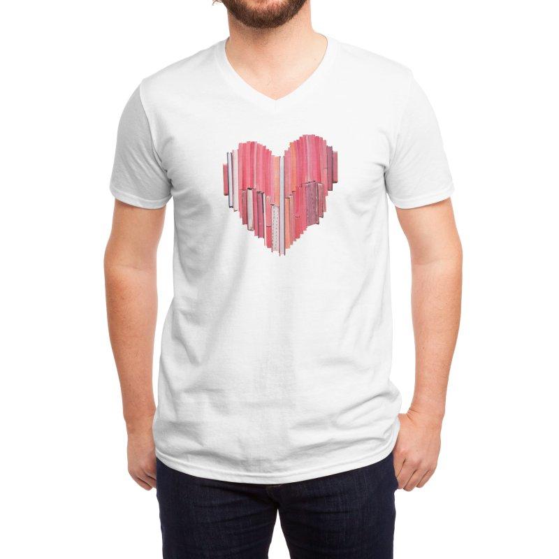 51 Love Stories Men's V-Neck by Threadless Artist Shop