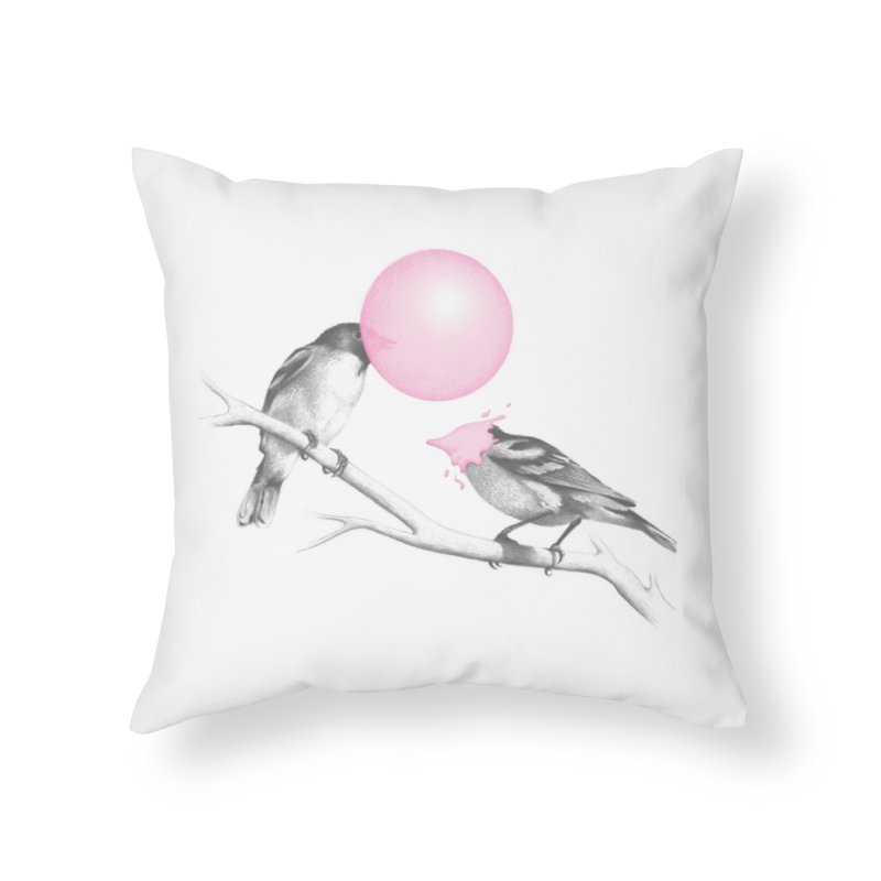 The Northern Black-capped Gumchewer Home Throw Pillow by Threadless Artist Shop