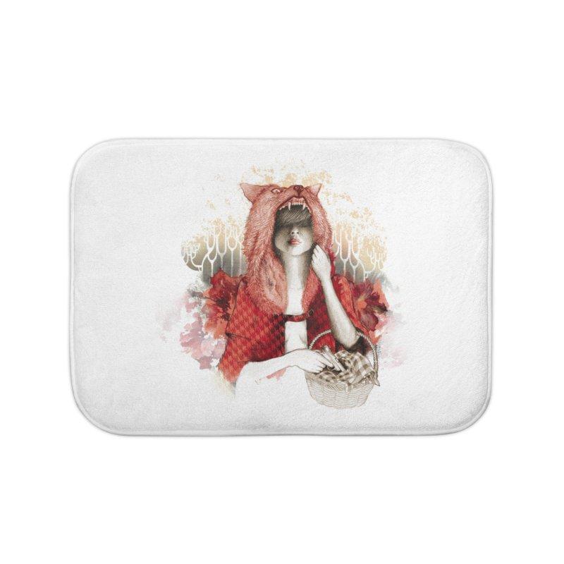 RED Home Bath Mat by Threadless Artist Shop