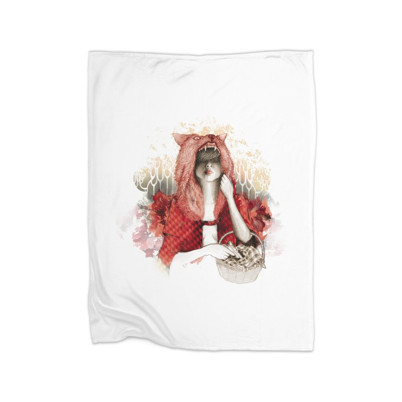 RED Home Blanket by Threadless Artist Shop