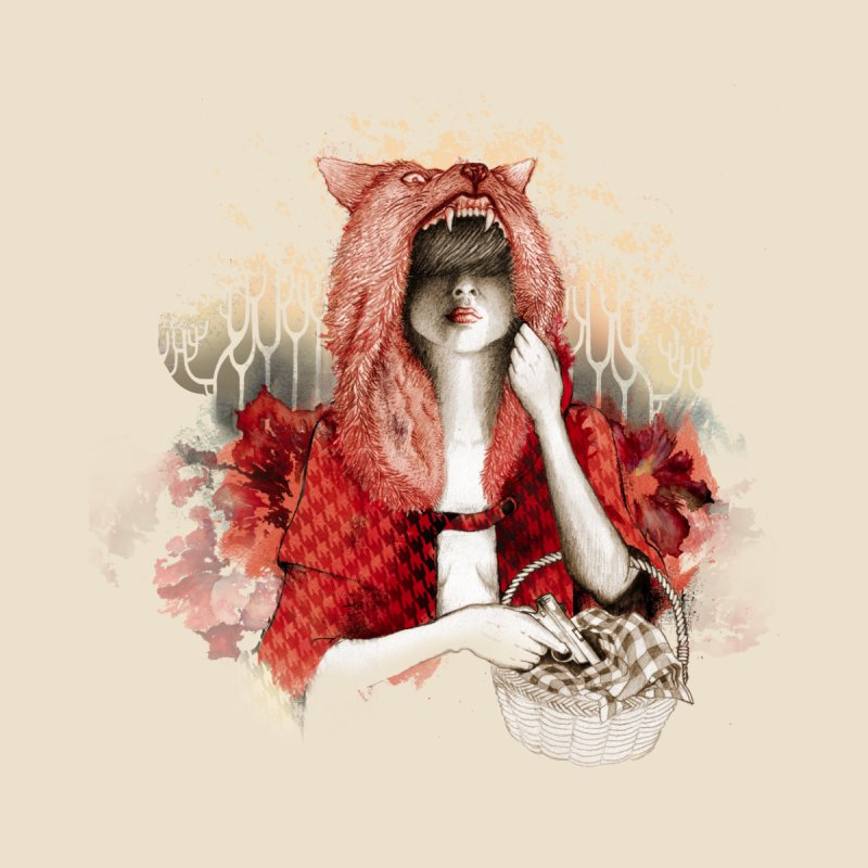 RED Home Fine Art Print by Threadless Artist Shop