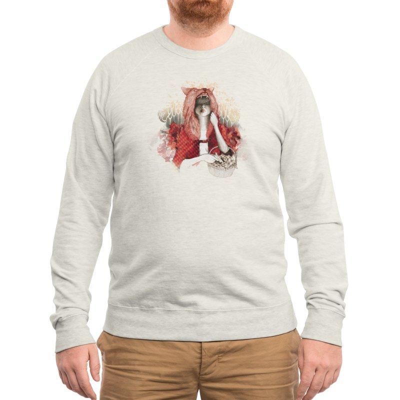 RED Men's Sweatshirt by Threadless Artist Shop