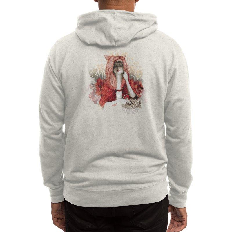 RED Men's Zip-Up Hoody by Threadless Artist Shop