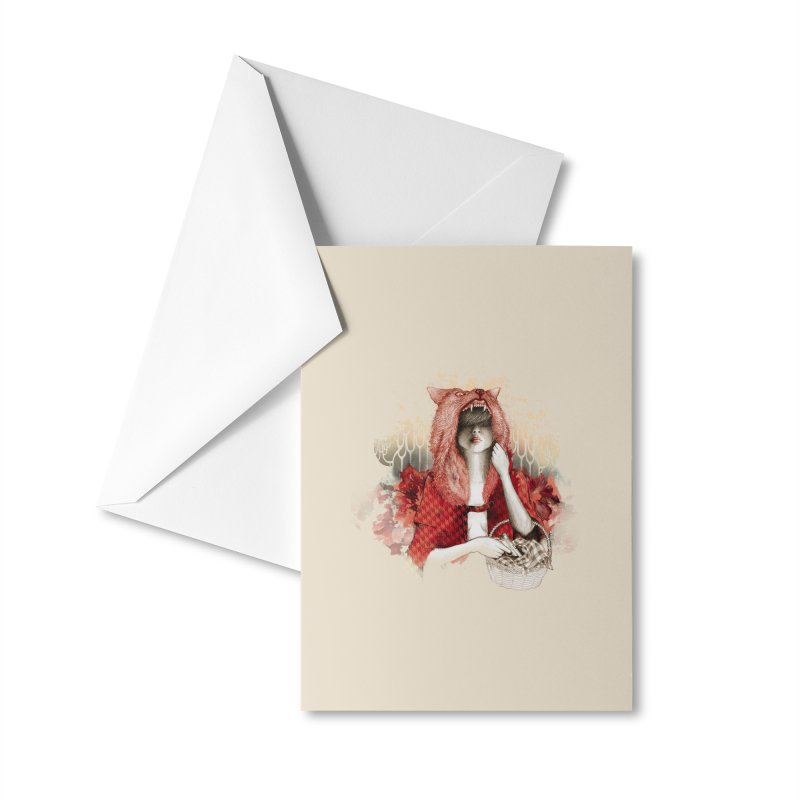 RED Accessories Greeting Card by Threadless Artist Shop