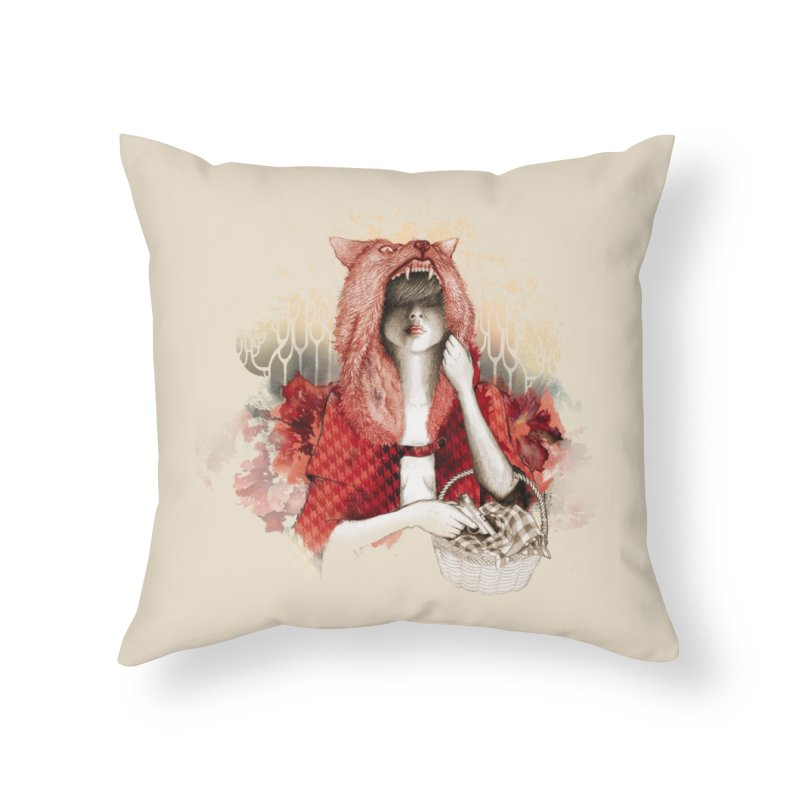 RED Home Throw Pillow by Threadless Artist Shop