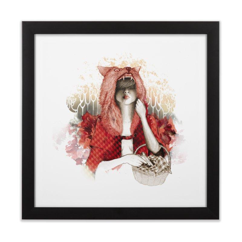 RED Home Framed Fine Art Print by Threadless Artist Shop