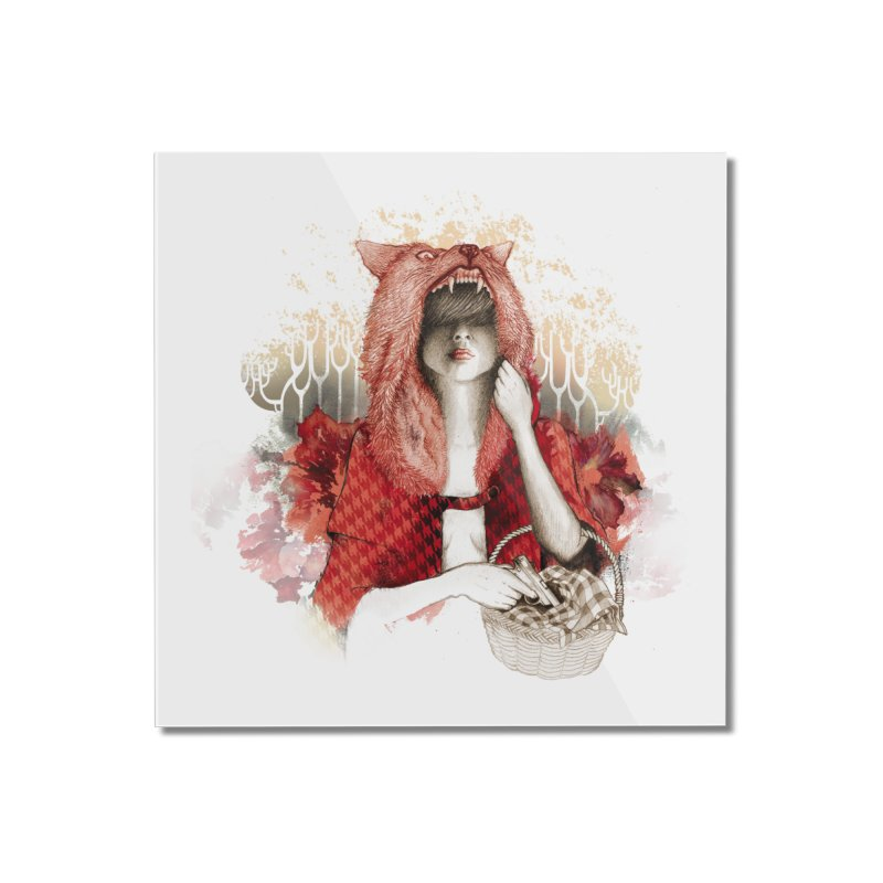RED Home Mounted Acrylic Print by Threadless Artist Shop