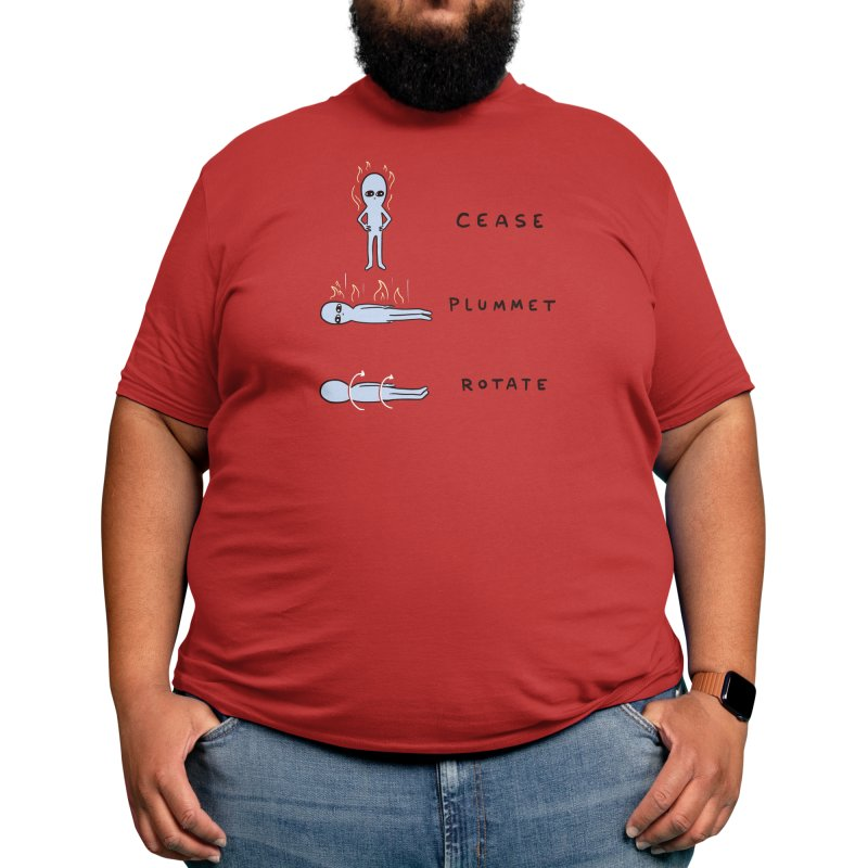 STRANGE PLANET SPECIAL PRODUCT: CEASE PLUMMET ROTATE Men's T-Shirt by Threadless Artist Shop