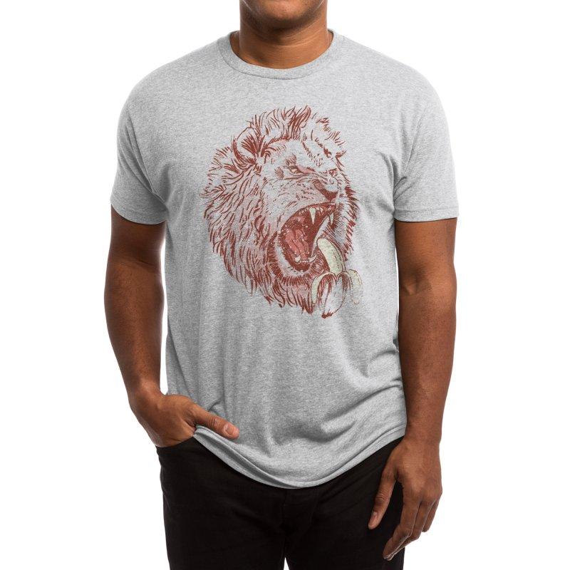 Banana Eating Lion Men's T-Shirt by Threadless Artist Shop