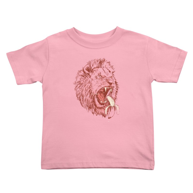 Banana Eating Lion Kids Toddler T-Shirt by Threadless Artist Shop