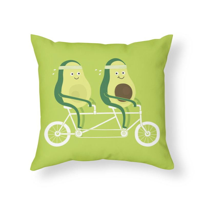 AvoCardio Home Throw Pillow by Threadless Artist Shop