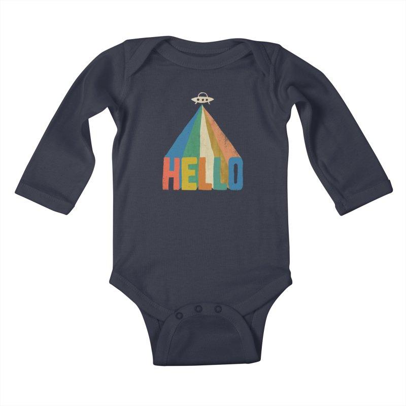 HELLO Kids Baby Longsleeve Bodysuit by Threadless Artist Shop