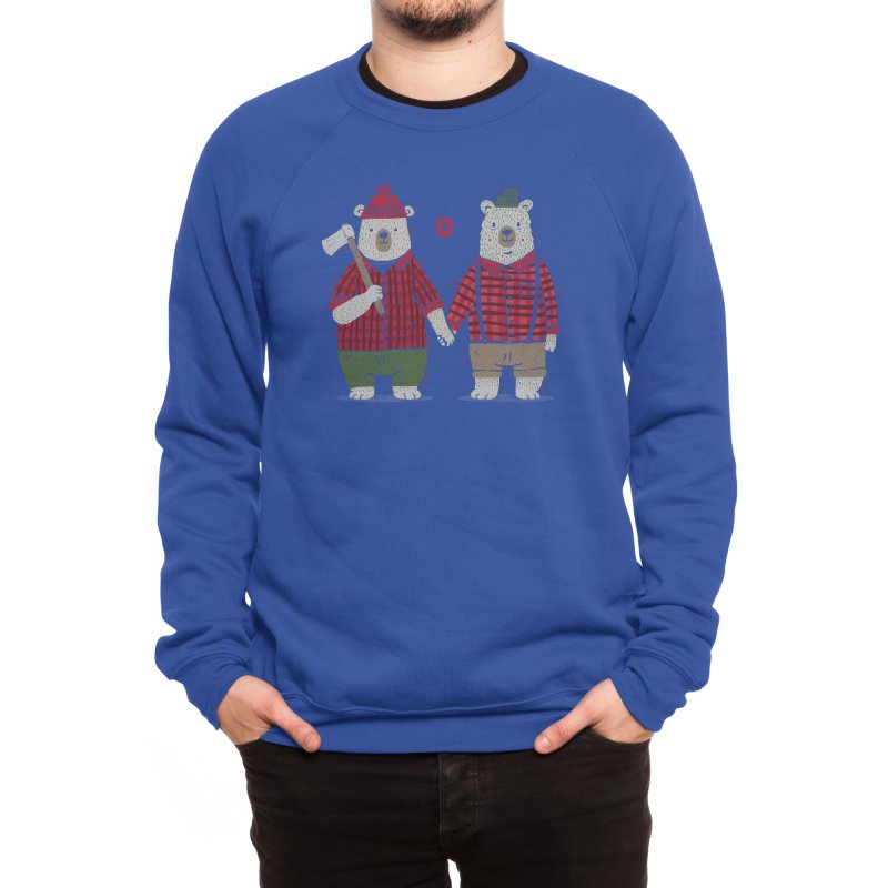 My Bear Valentine Men's Sweatshirt by Threadless Artist Shop