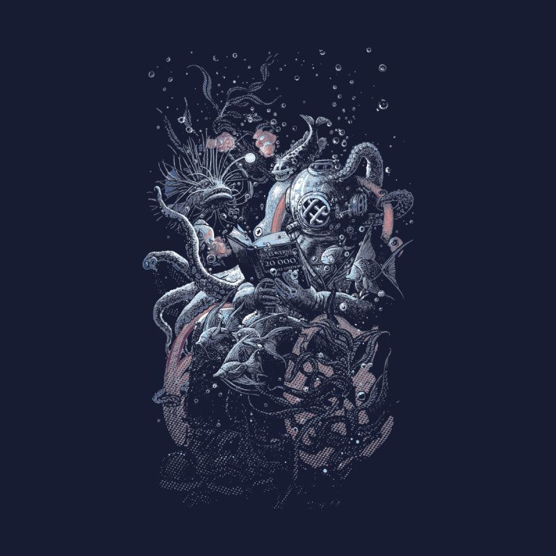 I'd Like to be Under the Sea Men's T-Shirt by Threadless Artist Shop