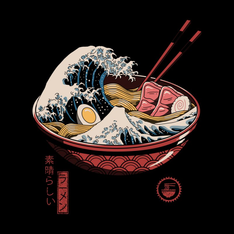 Great Ramen Wave Home Throw Pillow by Threadless Artist Shop