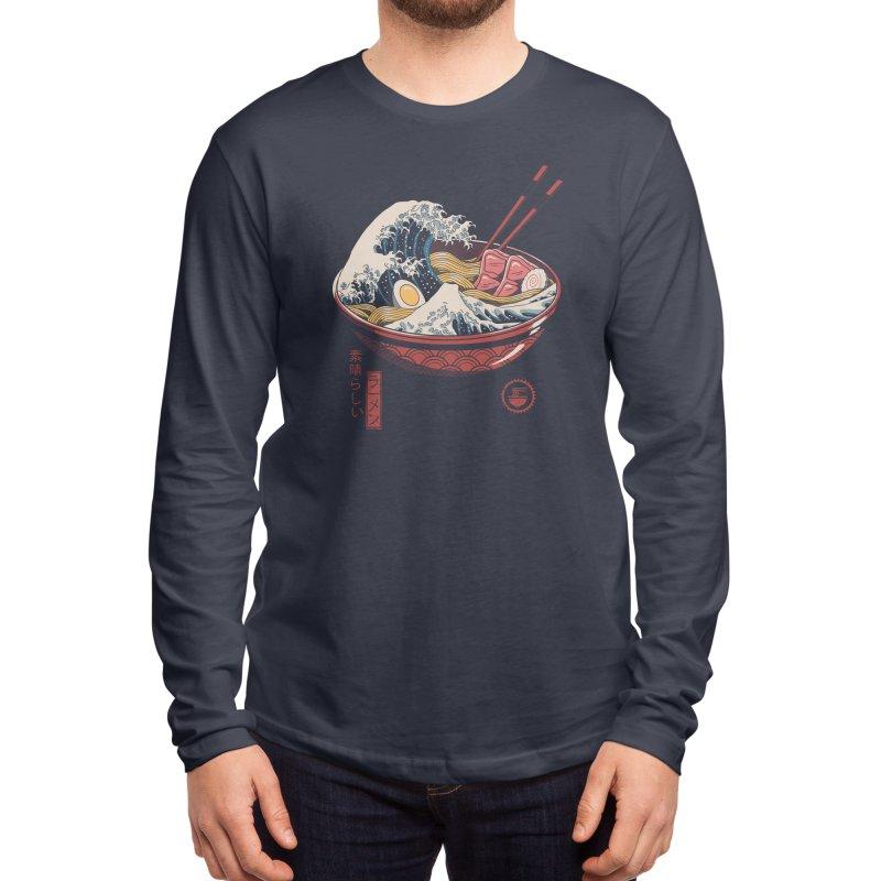 Great Ramen Wave Men's Longsleeve T-Shirt by Threadless Artist Shop
