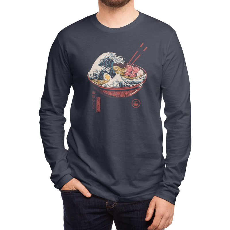 Great Ramen Wave Men's Longsleeve T-Shirt by Threadless Artist Shop
