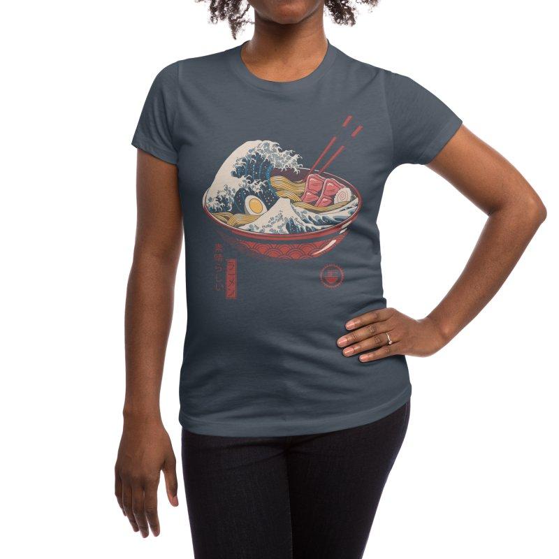 Great Ramen Wave Women's T-Shirt by Threadless Artist Shop