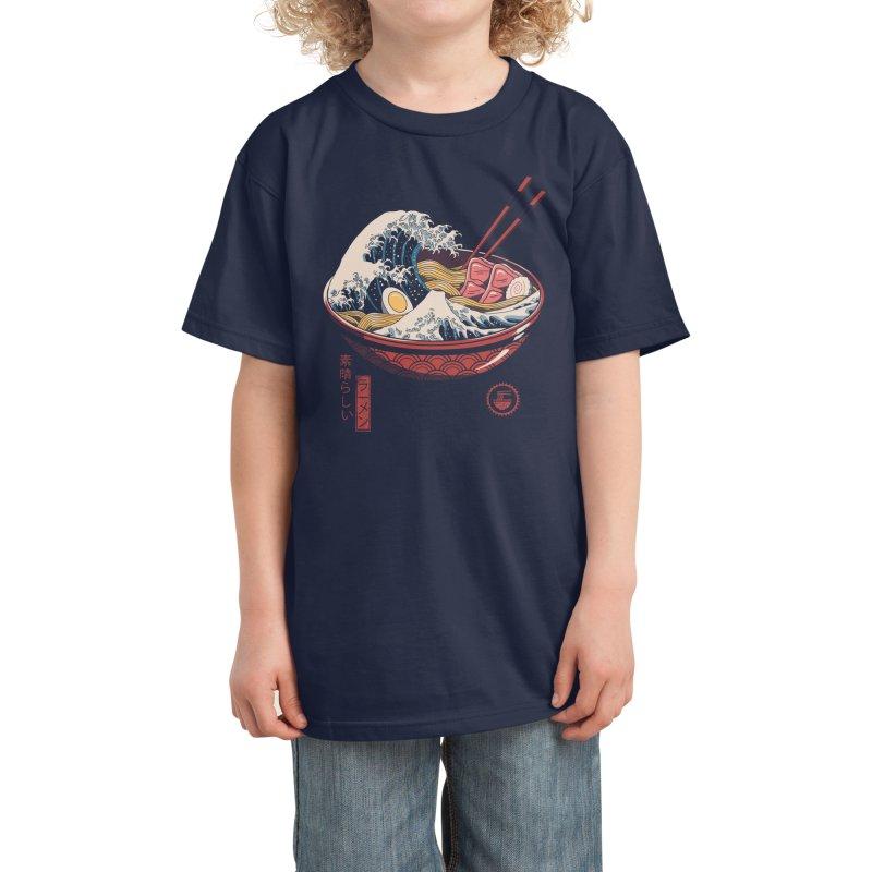 Great Ramen Wave Kids T-Shirt by Threadless Artist Shop