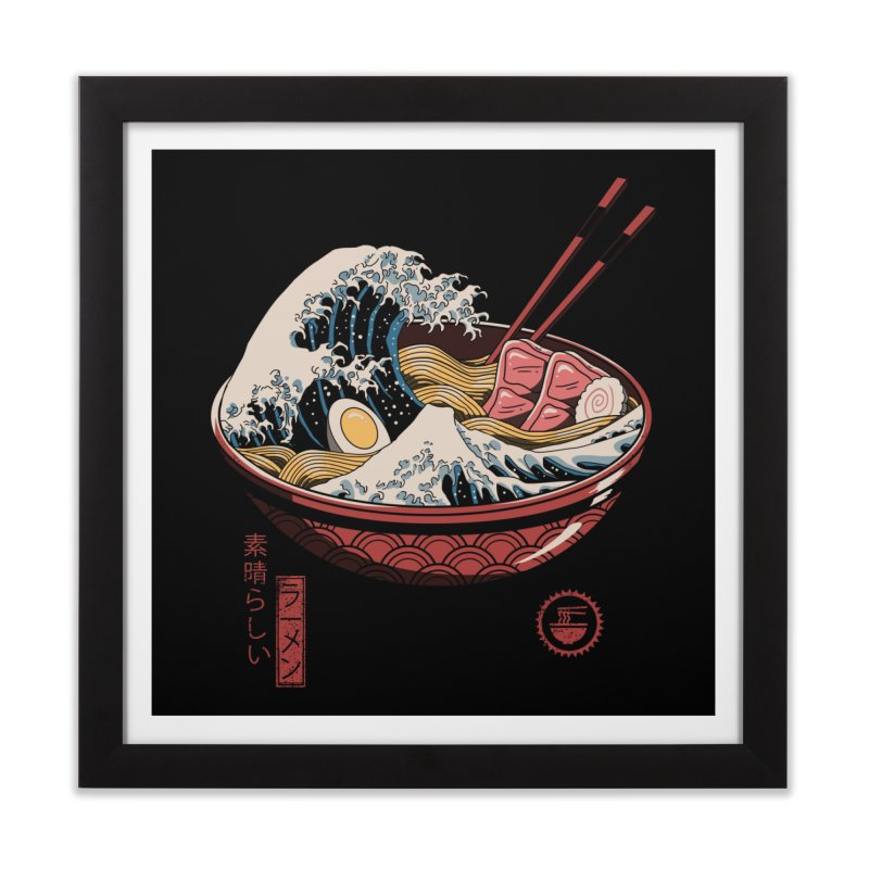 Great Ramen Wave Home Framed Fine Art Print by Threadless Artist Shop