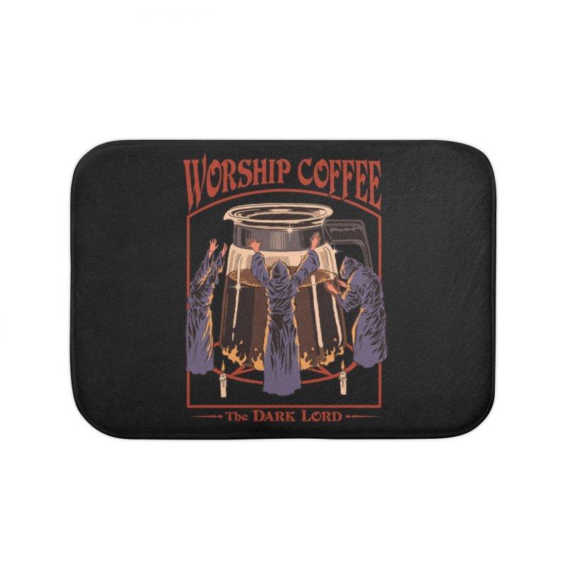 Worship Coffee Home Bath Mat by Threadless Artist Shop