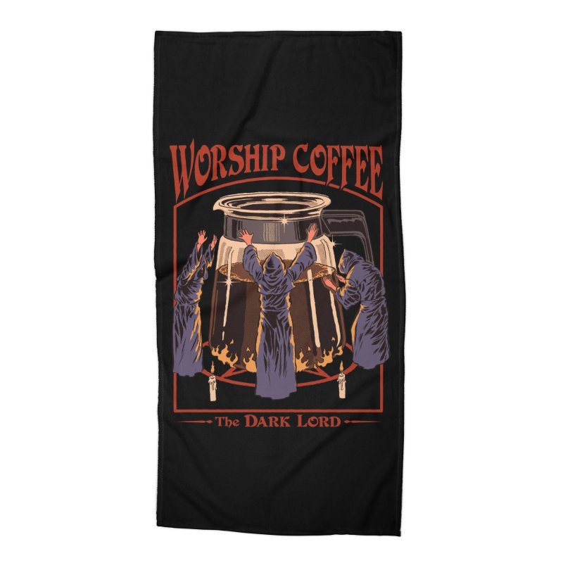 Worship Coffee Accessories Beach Towel by Threadless Artist Shop