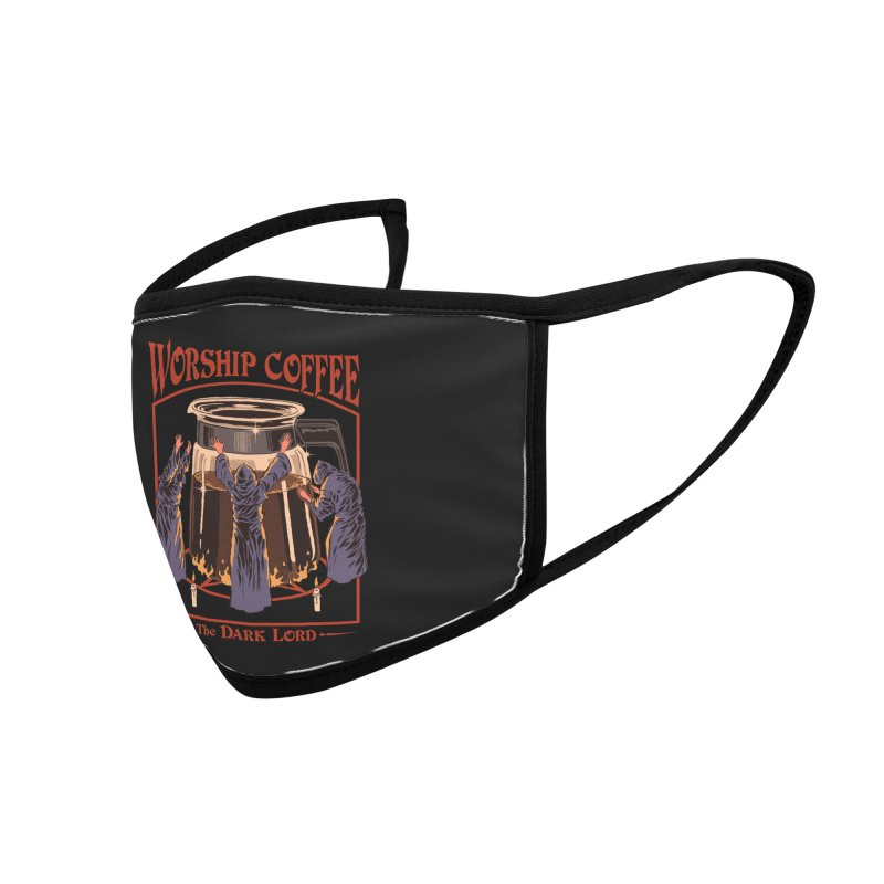Worship Coffee Accessories Face Mask by Threadless Artist Shop