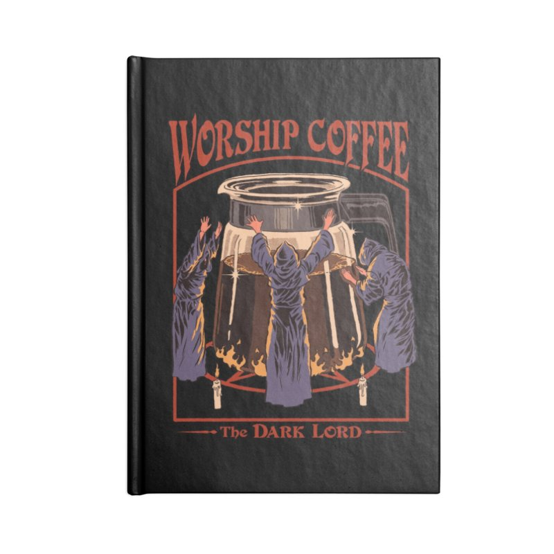 Worship Coffee Accessories Notebook by Threadless Artist Shop