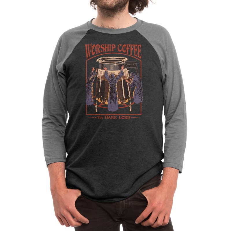 Worship Coffee Men's Longsleeve T-Shirt by Threadless Artist Shop
