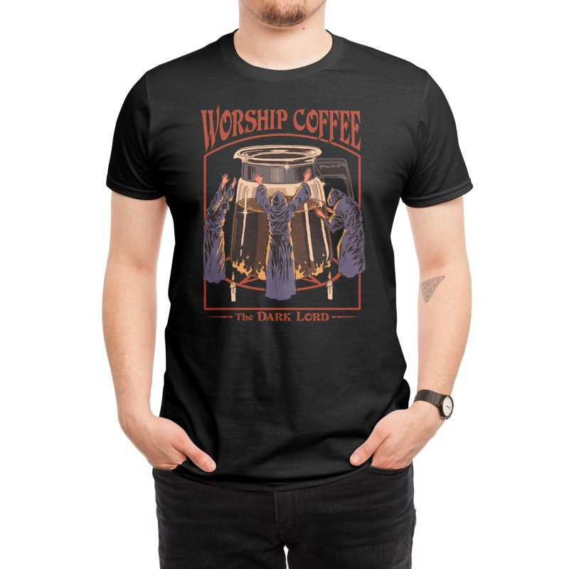 Worship Coffee Men's T-Shirt by Threadless Artist Shop