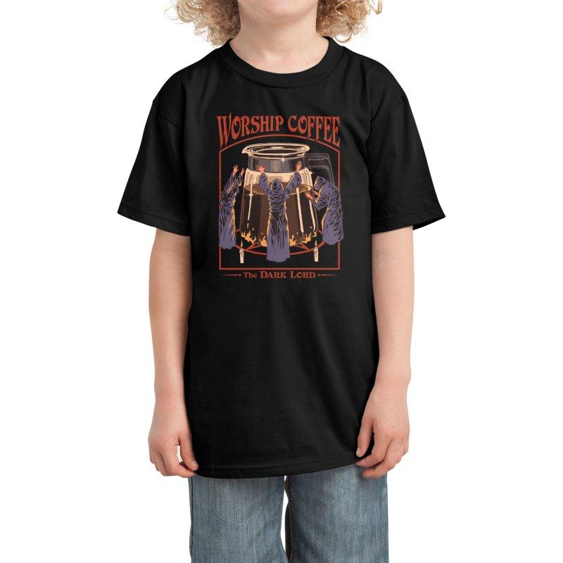 Worship Coffee Kids T-Shirt by Threadless Artist Shop