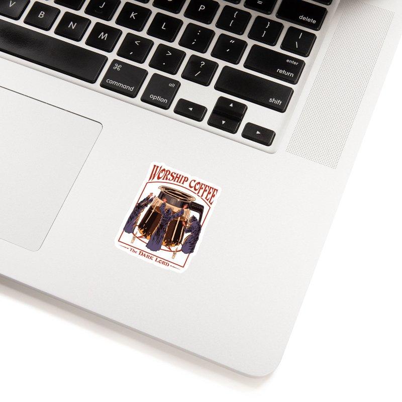 Worship Coffee Accessories Sticker by Threadless Artist Shop