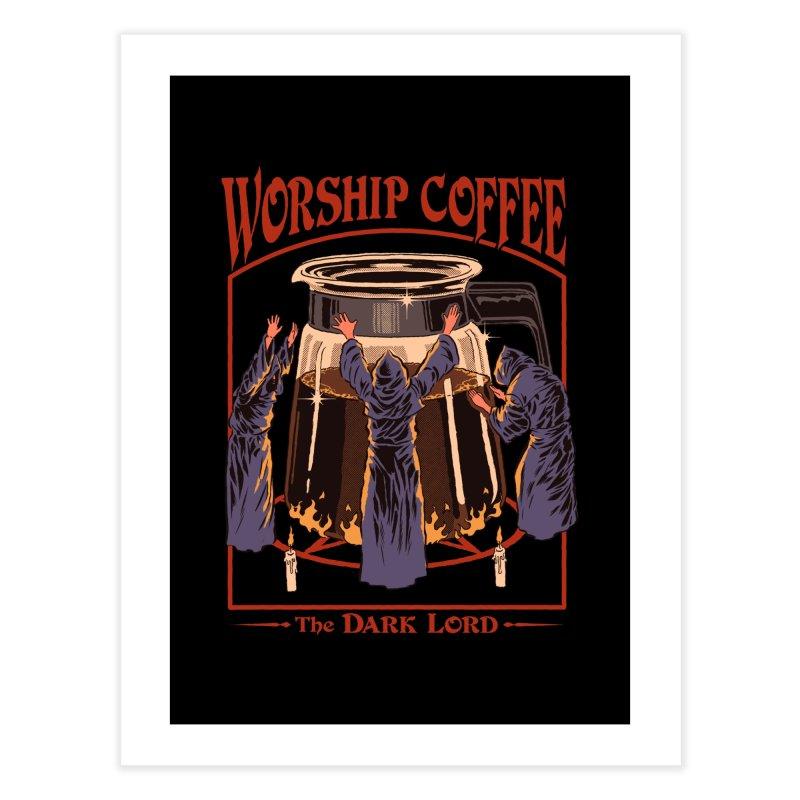 Worship Coffee Home Fine Art Print by Threadless Artist Shop