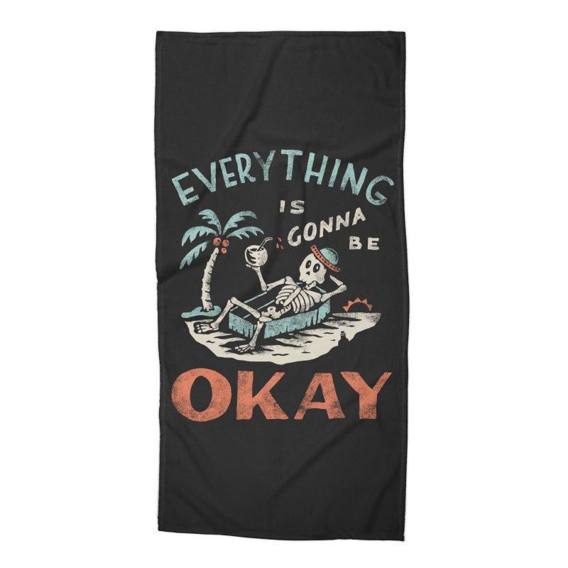Okay Accessories Beach Towel by Threadless Artist Shop