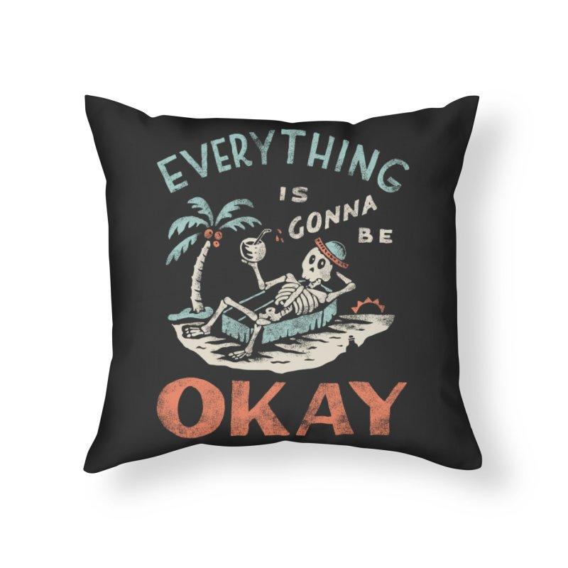 Okay Home Throw Pillow by Threadless Artist Shop