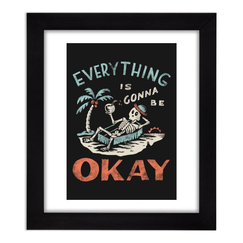 Okay Home Framed Fine Art Print by Threadless Artist Shop