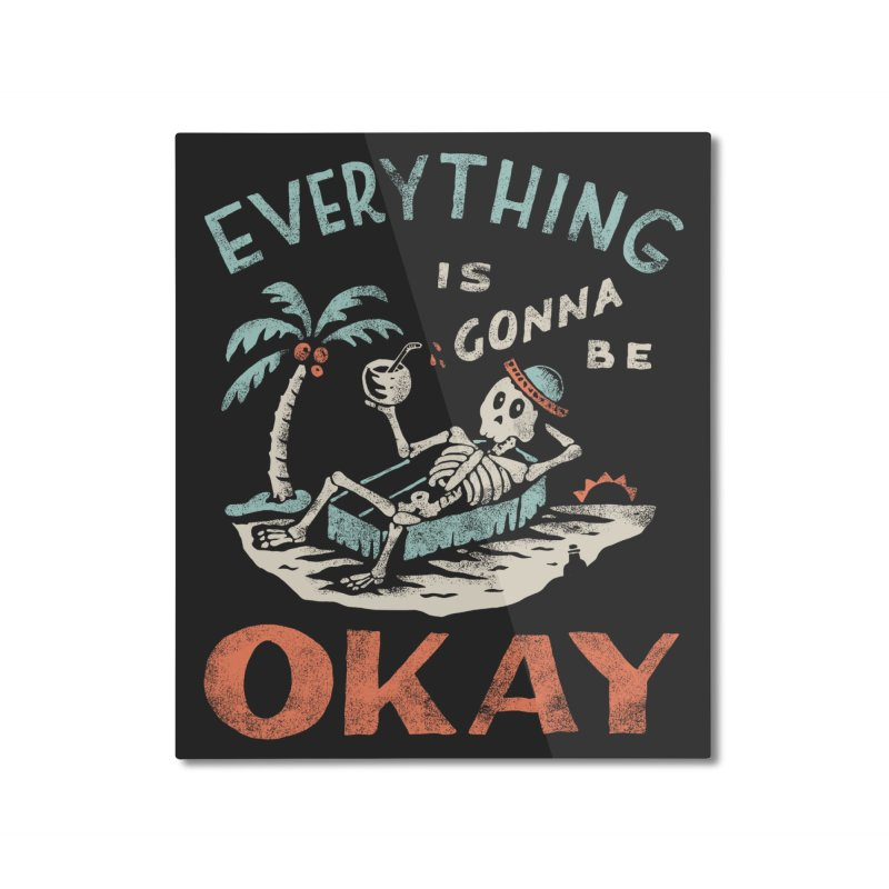 Okay Home Mounted Aluminum Print by Threadless Artist Shop