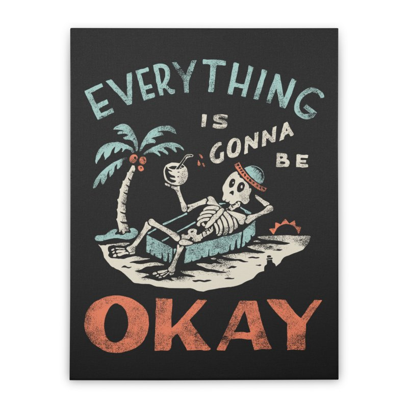Okay Home Stretched Canvas by Threadless Artist Shop