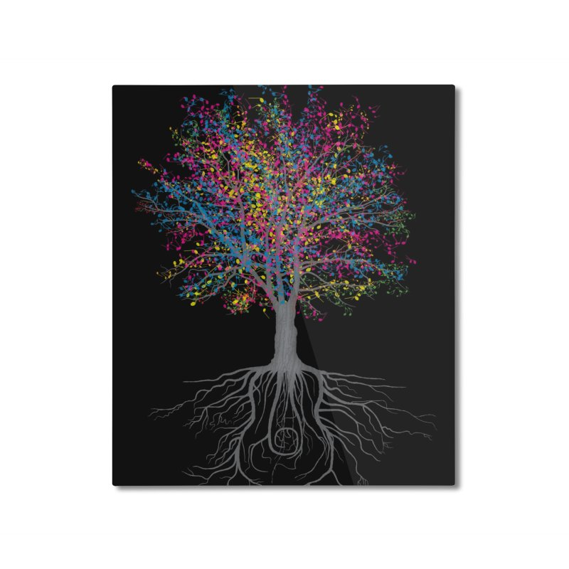 It Grows on Trees Home Mounted Aluminum Print by Threadless Artist Shop
