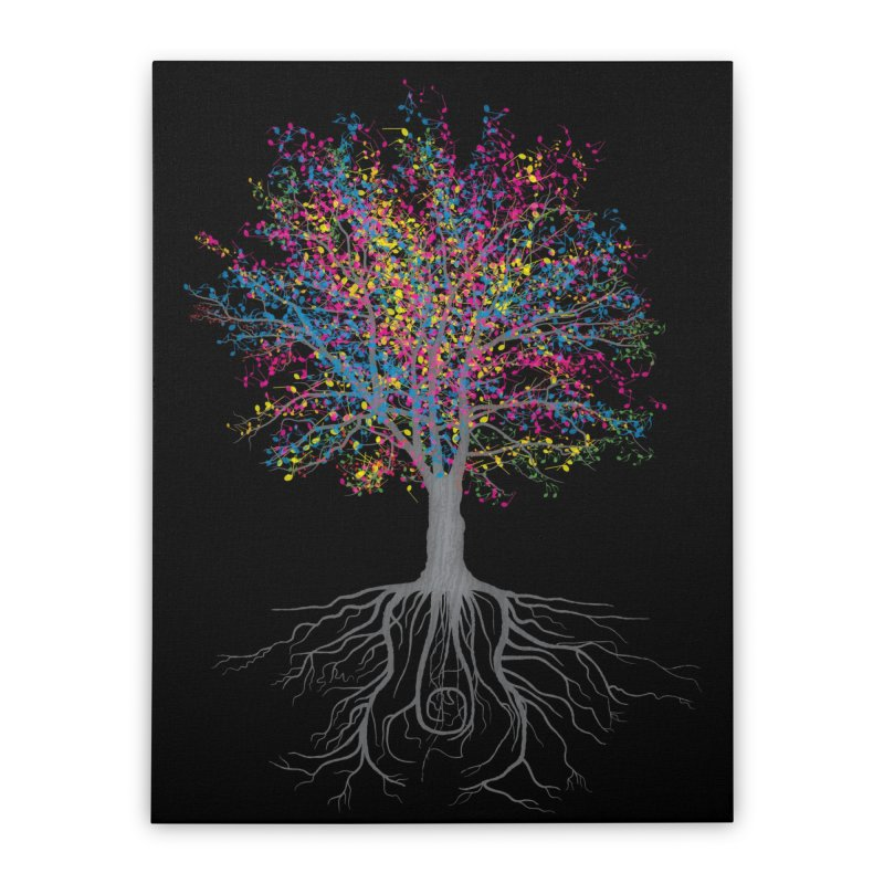 It Grows on Trees Home Stretched Canvas by Threadless Artist Shop