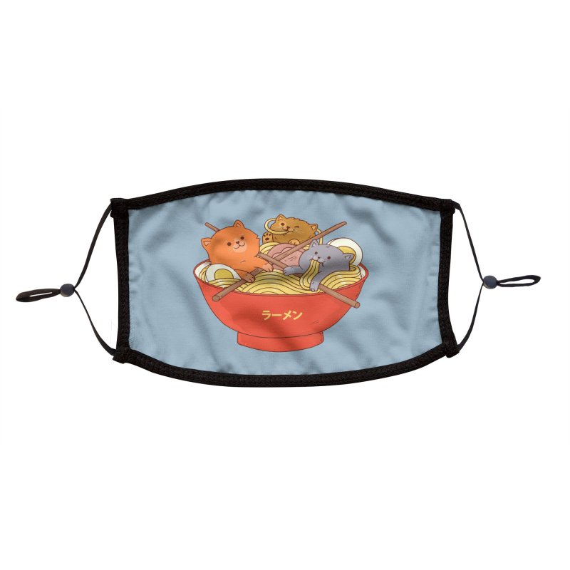 Ramen and cats Accessories Face Mask by Threadless Artist Shop