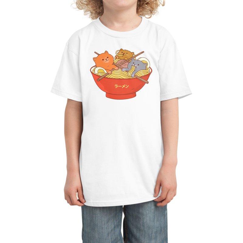 Ramen and cats Kids T-Shirt by Threadless Artist Shop