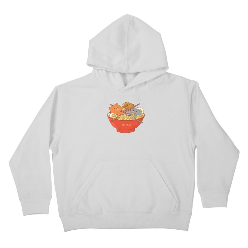 Ramen and cats Kids Pullover Hoody by Threadless Artist Shop
