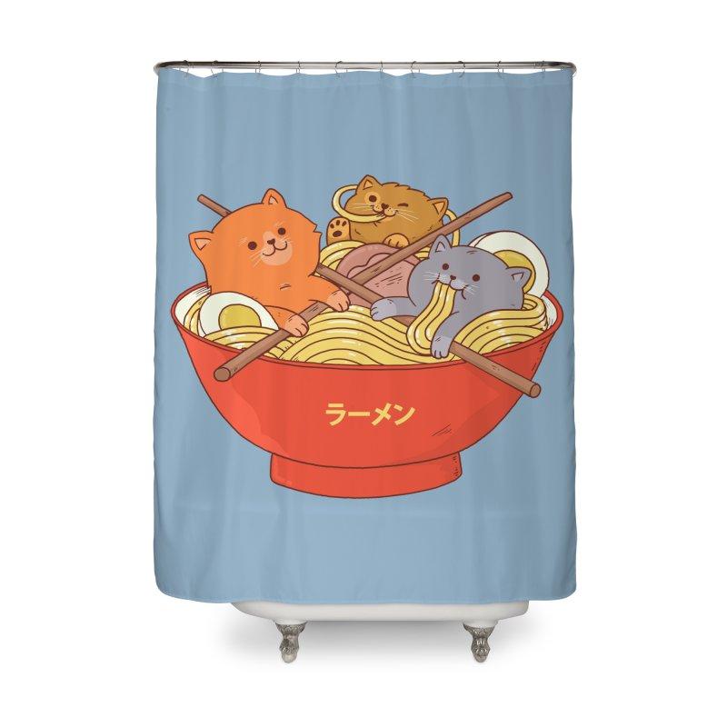 Ramen and cats Home Shower Curtain by Threadless Artist Shop