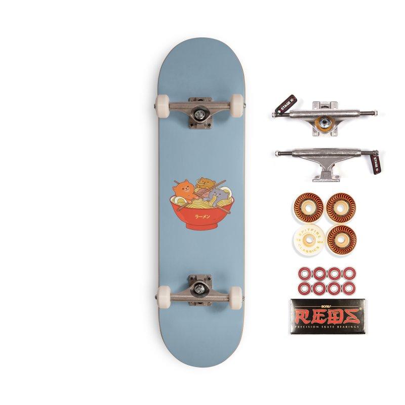 Ramen and cats Accessories Skateboard by Threadless Artist Shop