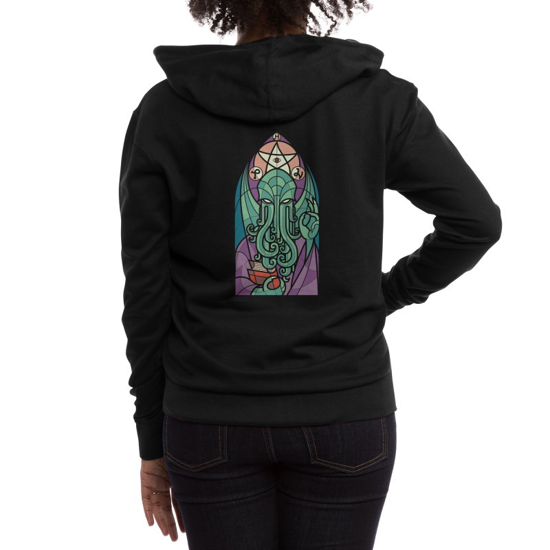 Cthulhu's Church Women's Zip-Up Hoody by Threadless Artist Shop