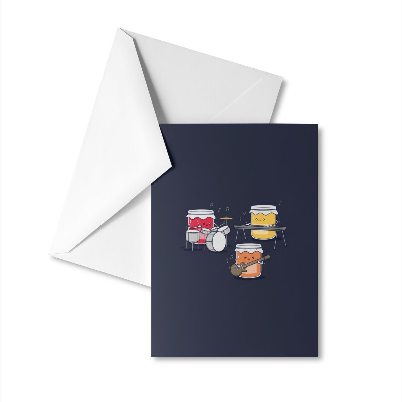 Jam Session Accessories Greeting Card by Threadless Artist Shop