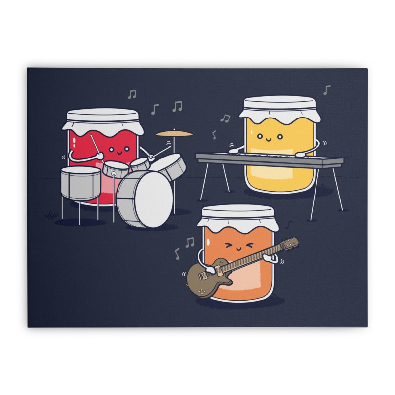 Jam Session Home Stretched Canvas by Threadless Artist Shop