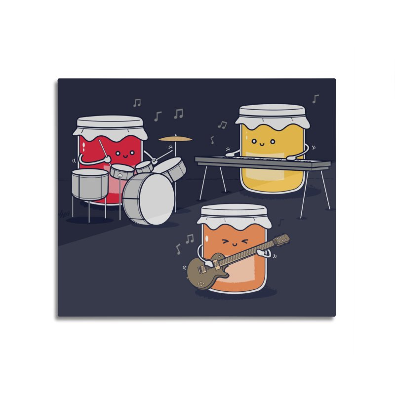 Jam Session Home Mounted Aluminum Print by Threadless Artist Shop
