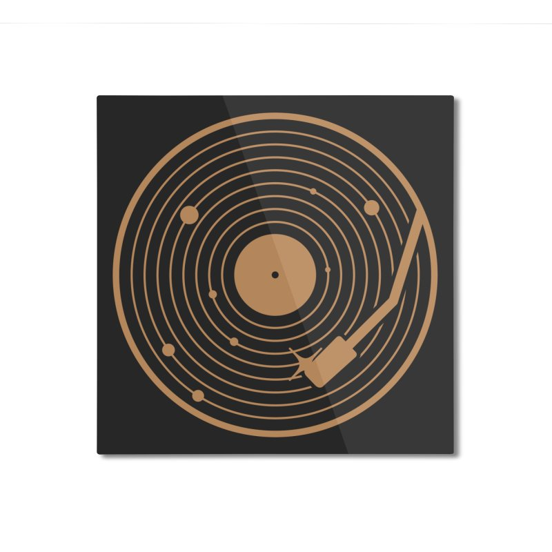 The Vinyl System Home Mounted Aluminum Print by Threadless Artist Shop
